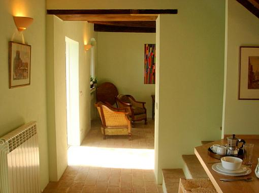 The ground floor, Casa Verde, looking from the kitchen to the sitting room